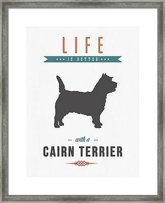 Cairn Terrier 01 Framed Print by Aged Pixel