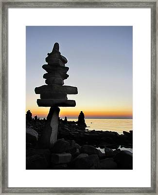 Cairns At Sunset At Door Bluff Headlands Framed Print