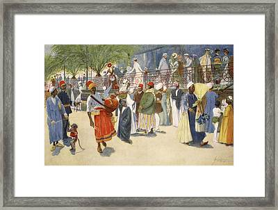 Cairo Curios; Or, The Shepheards Flock Framed Print by Lance Thackeray