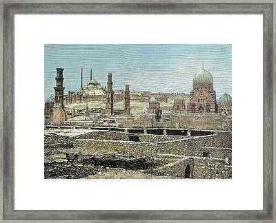 Cairo, Egypt View Of The City Framed Print