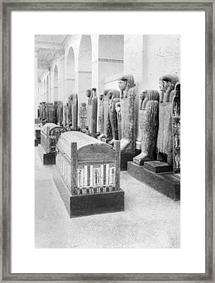 Cairo Egyptian Mummies Framed Print by Granger
