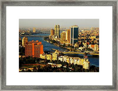 Cairo From Above Framed Print by Chaza Abou El Khair