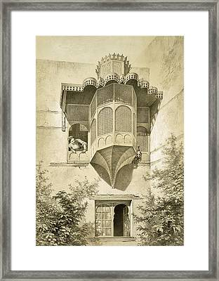 Cairo House Called Beyt El-emyr , 19th Framed Print