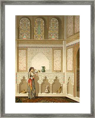 Cairo Interior  Framed Print by Emile Prisse d'Avennes