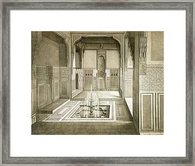 Cairo Mandarah Reception Room, Ground Framed Print