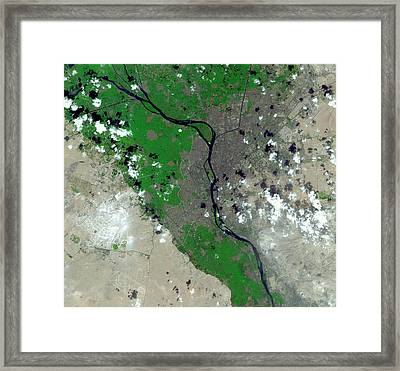 Cairo Framed Print by Nasa/gsfc/meti/japan Space Systems/u.s.,japan Aster Science Team