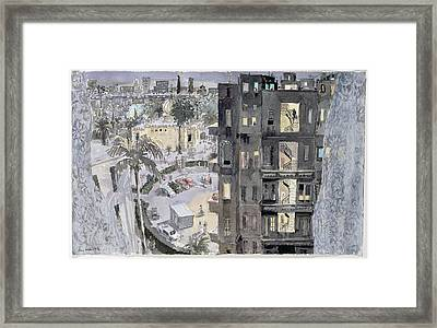 Cairo Night, 1996 Wc On Paper Framed Print