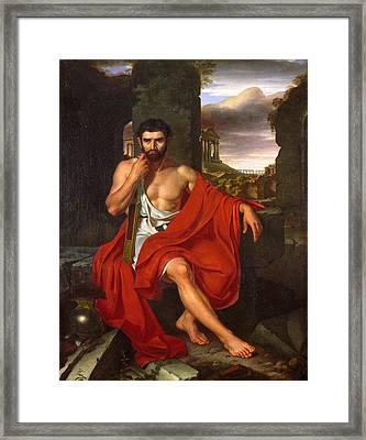 Caius Marius Amid The Ruins Of Carthage Framed Print by John Vanderlyn