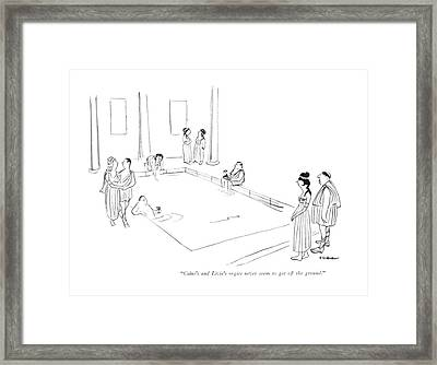 Caius's And Livia's Orgies Never Seem To Get Framed Print