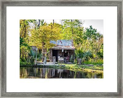 Cajun Cabin Framed Print by Steve Harrington