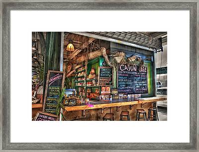 Cajun Cafe Framed Print by Brenda Bryant
