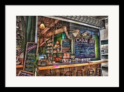 Cajun Cafe Framed Prints