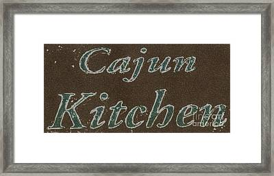 Cajun Kitchen Framed Print