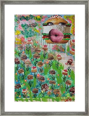 Cake Burger Framed Print by Lisa Piper