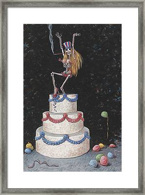 Cake Framed Print by Holly Wood