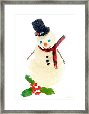 Cake Snowman Framed Print by Iris Richardson