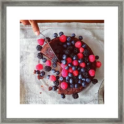 Cake With Berries Framed Print by Shilpa Harolikar
