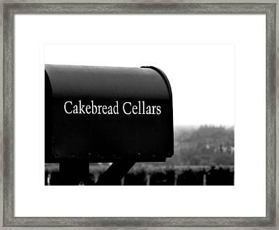 Cakebread Cellars Framed Print
