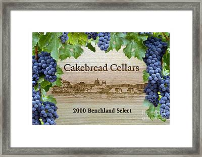 Cakebread Cellars Framed Print by Jon Neidert