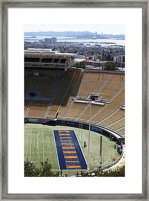 Cal Golden Bears California Memorial Stadium Berkeley California 5d24666 Framed Print