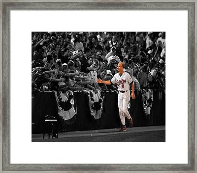 Cal Ripken Framed Print by Brian Reaves