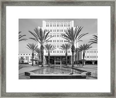 Cal State University Fullerton Langsdorf Hall Framed Print by University Icons