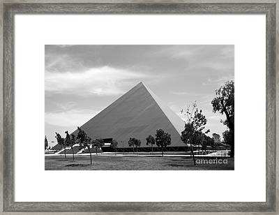 Cal State University Long Beach Walter Pyramid Framed Print by University Icons