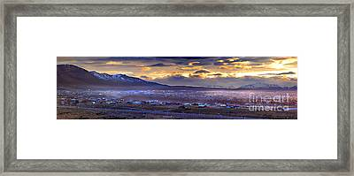 Calafate Panoramic Framed Print