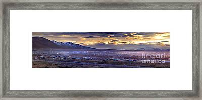 Calafate Panoramic Framed Print by Bernardo Galmarini