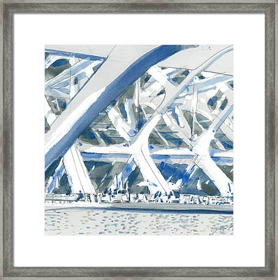 Calatrava 2 Framed Print by Olga Sorokina