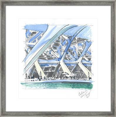 Calatrava 1 Framed Print by Olga Sorokina