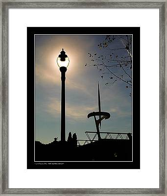 Framed Print featuring the photograph Calatrava Tower Backlight by Pedro L Gili