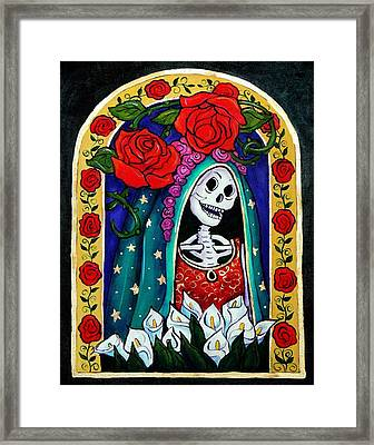 Calavera Guadalupe Framed Print by Candy Mayer