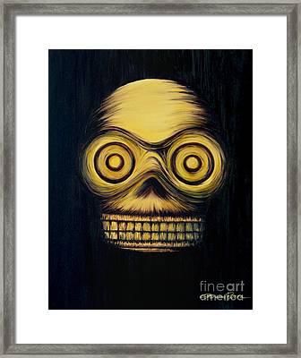 Calavera Framed Print by Lorena Rivera