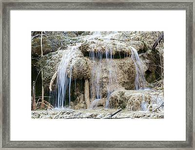 Calcareous Sinter And Waterfall Framed Print by Dr Juerg Alean