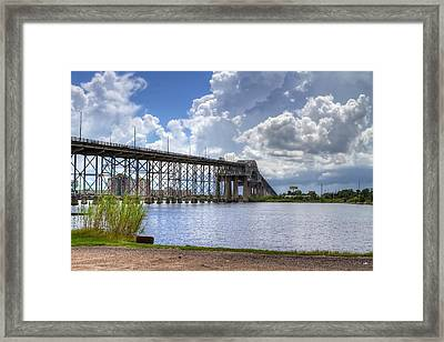 Calcasieu River Bridge Framed Print by David Byron Keener