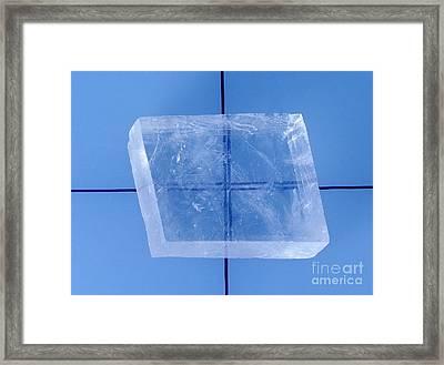 Calcite Birefringence Framed Print