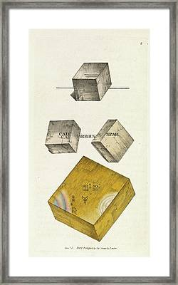 Calcium Carbonate Crystals Framed Print
