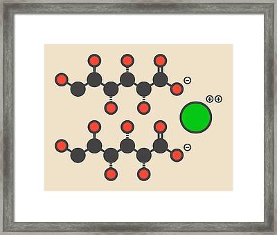 Calcium Gluconate Drug Molecule Framed Print