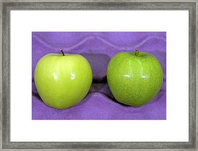 Calcium-treated And Untreated Apple Framed Print by Bob Nichols/us Department Of Agriculture