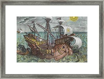 Calculating Longitude Framed Print by Jan van der Straet