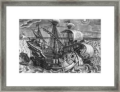 Calculating Longitude With The Declination Of The Sun Framed Print