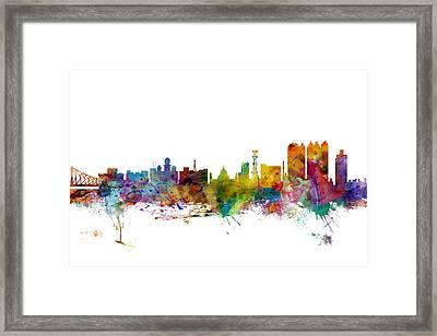 Calcutta Kolkata India Skyline Framed Print