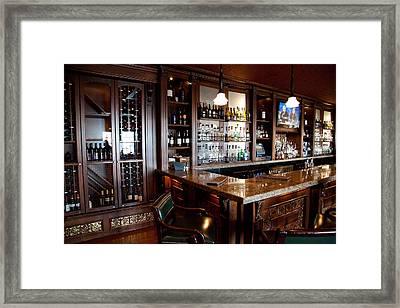 Caldwell's Lobby Bar At The Sagamore Framed Print by David Patterson