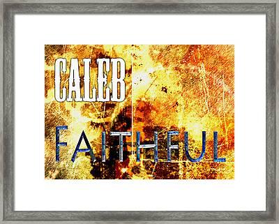 Caleb - Faithful Framed Print by Christopher Gaston