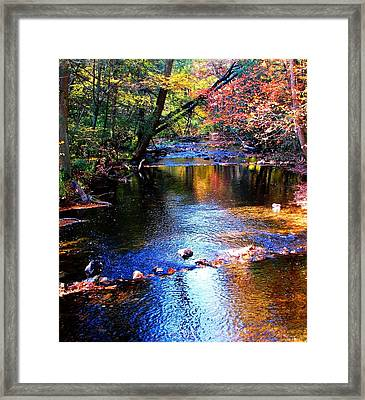 Caledonia In Autumn Framed Print by Angela Davies