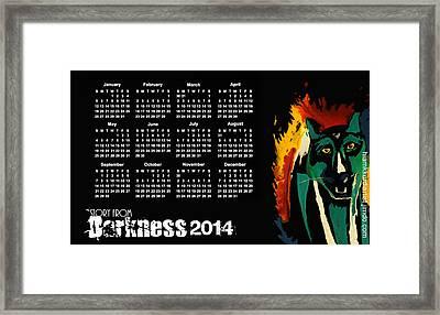Calendar 2014  Framed Print by Hiam  Kurdi