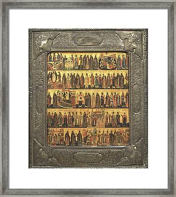Calendar Of Saints And Festivals Framed Print