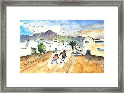 Caleta De Famara 02 Framed Print by Miki De Goodaboom