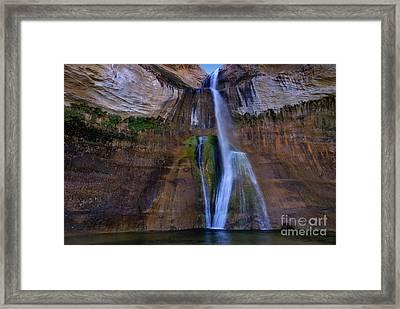 Calf Creek Lower Falls Number Two Framed Print